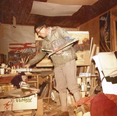 Atelier Willi Dreesen im Jahre 1962 auf der Riederalp