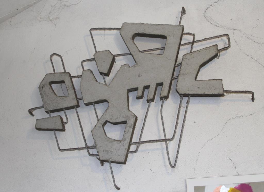 Betonkostruktion im Atelier 60er Jahre