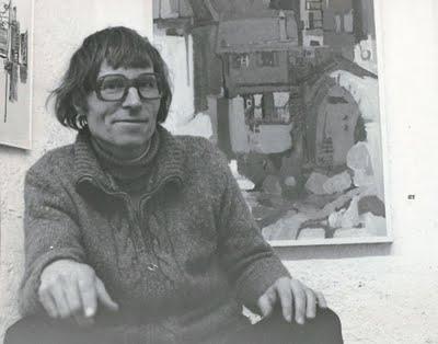 """In der Galerie """"Zur Matze"""" 1974 in Brig"""