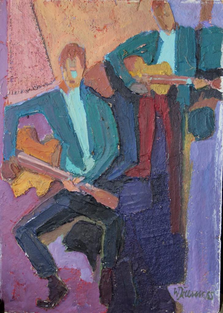 Musiker Spachtel/ÖL 1965