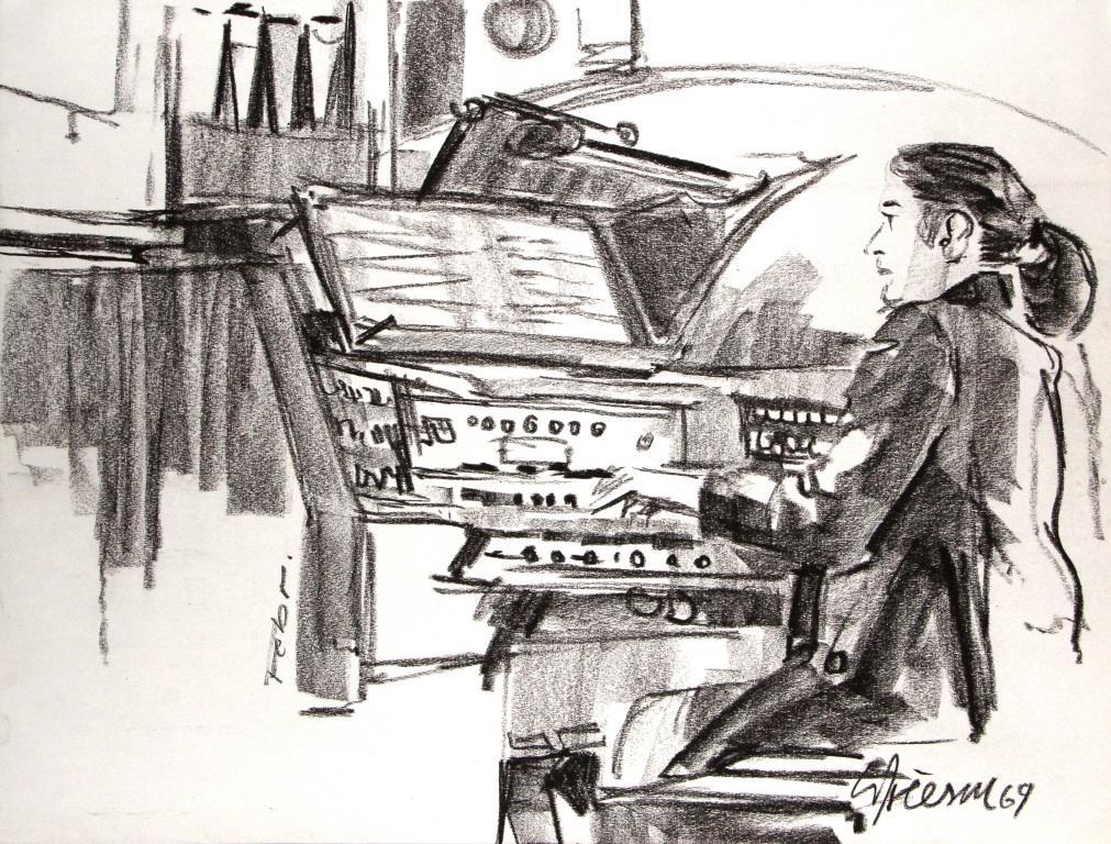 Orgelspielerin 1969