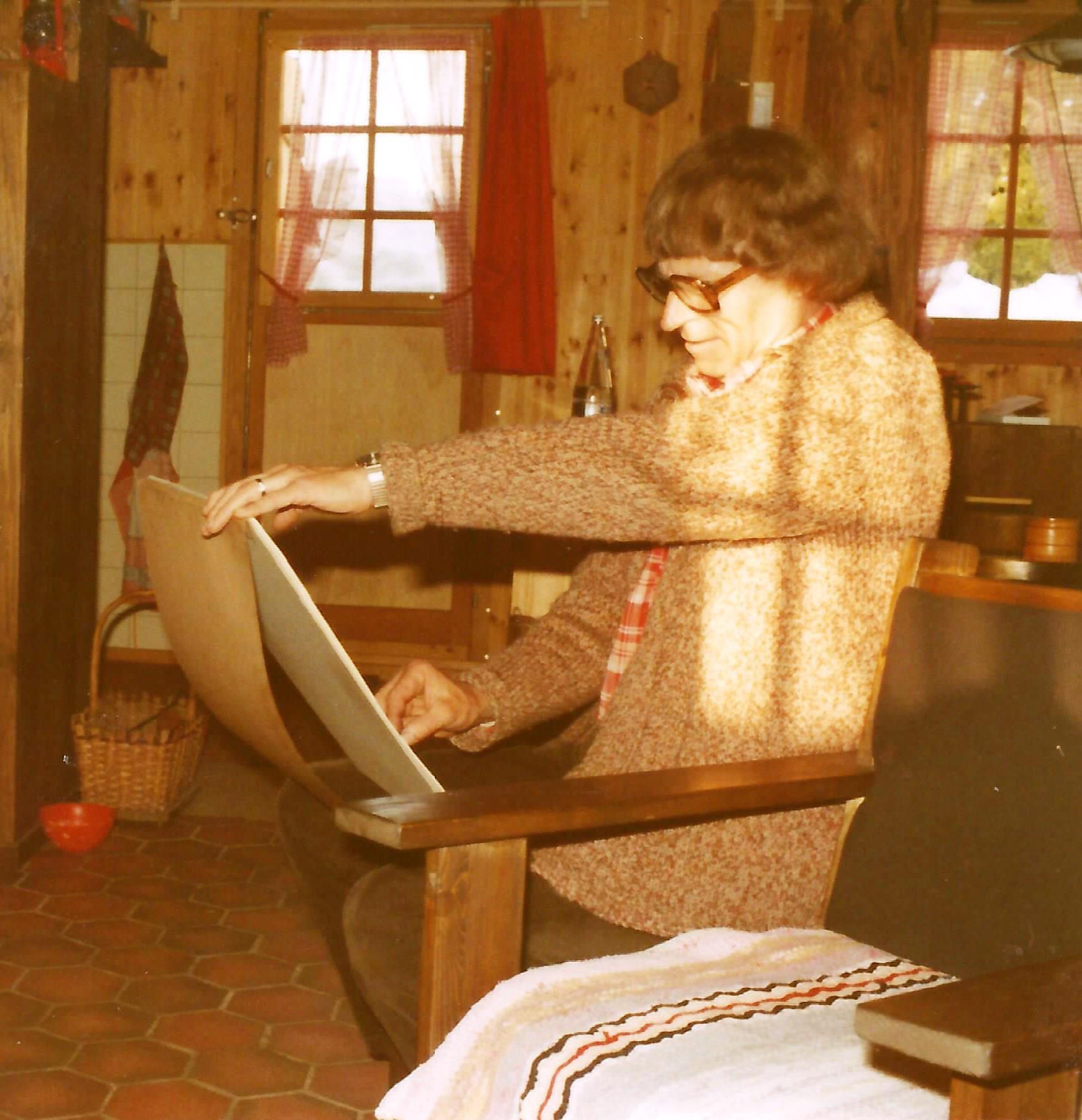 Bellwald 1977 beim porträtieren