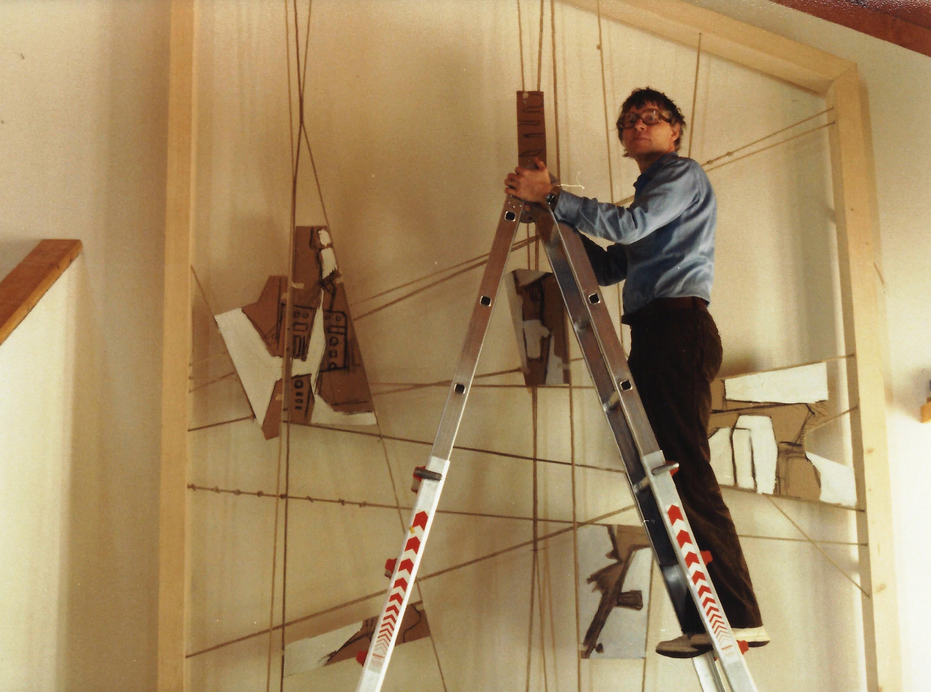 Entstehende Seilkonstruktion im September 1981