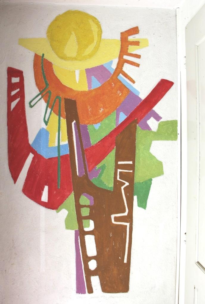 Wandbemalung im Atelier
