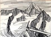 auf dem Grat Richtung Fusshörner 1959