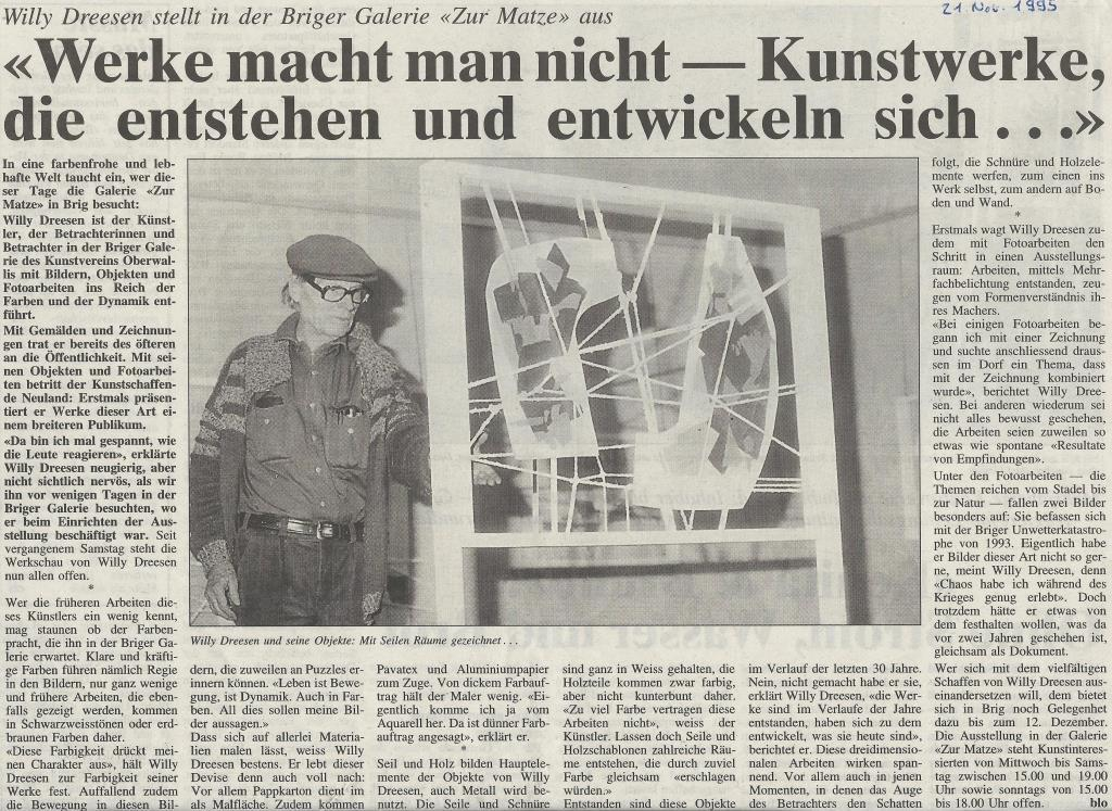 21.November 1995 Walliser Bote