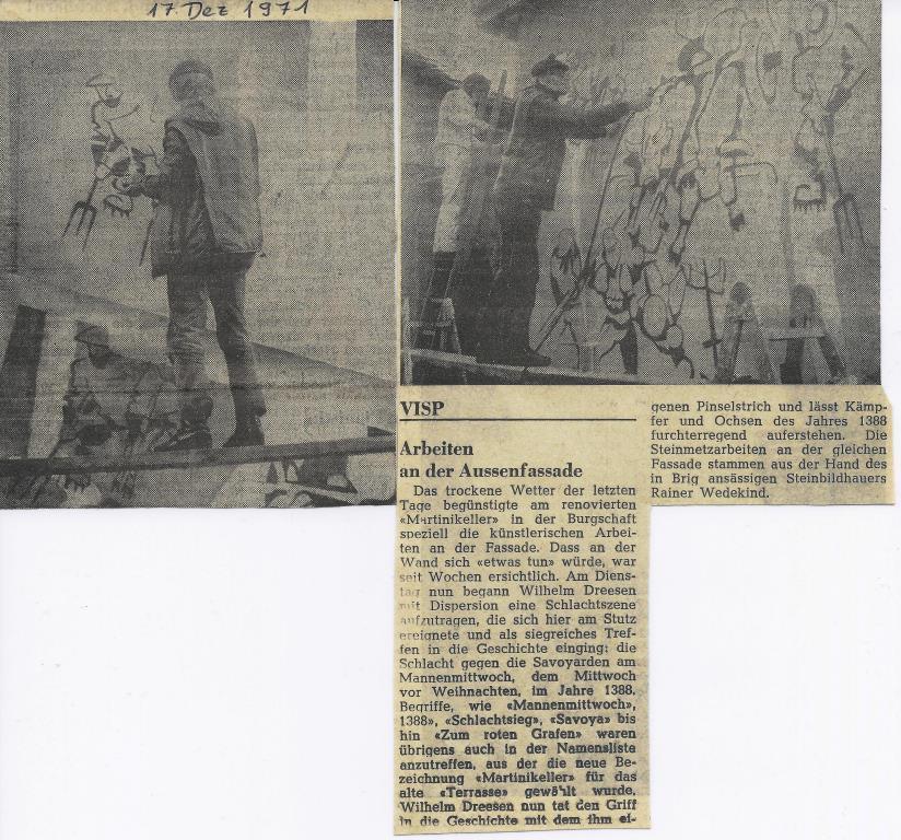 Mannenmittwoch in Visp 1971