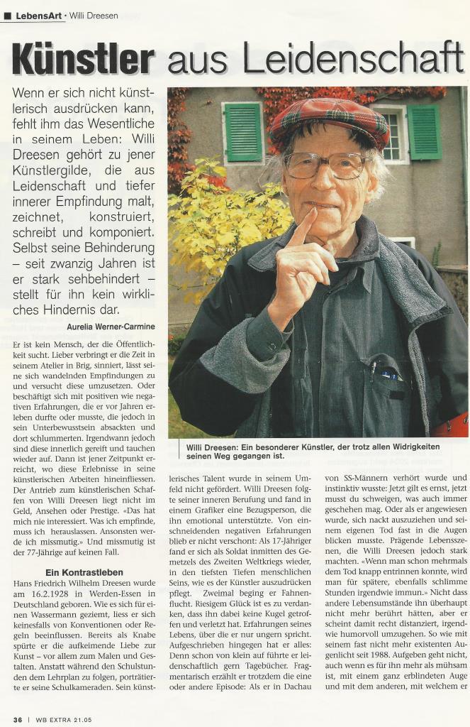Willi Dreesen im WB Extra 2005 Teil 1